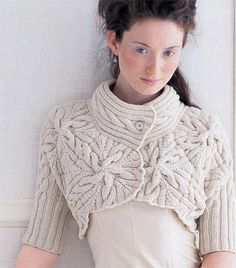 Cabled Bolero [VKW0607_02] pattern on Craftsy.com Vogue Knitting Winter 2006/2007 #2 Design by Norah Gaughan http://store.vogueknitting.com/p-173-cabled-bolero.aspx