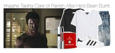 """""""Imagine Taking Care of Parrish After He's Been Burnt"""" by xdr-bieberx ❤ liked on Polyvore featuring American Vintage, J.Crew, By Terry, MANGO and adidas Originals"""