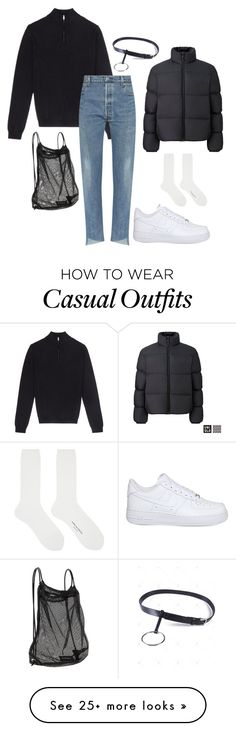 """""""Simple casual"""" by kyrann on Polyvore featuring Uniqlo, NIKE, Athleta and Comme des Garçons"""
