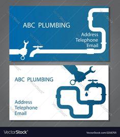 Business card for repair plumbing Royalty Free Vector Image , Fish Vector, Dog Vector, Free Vector Images, Vector Free, Fish Silhouette, Silhouette Vector, Business Logos, Business Design, Home Symbol