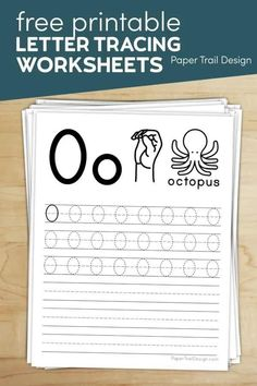 Free Letter Tracing Worksheets | Paper Trail Design