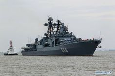 """Russian Ships Arriving Shanghai May 18, 2014. Admiral Panteleyev is an Udaloy-class destroyer (""""large anti-submarine ship"""") of the Russian Navy. Part of the Russian Pacific Ocean Fleet,."""