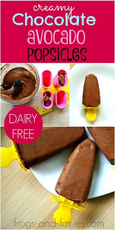 Creamy Chocolate Avocado Popsicles - Delicious, Healthy and Easy Recipe! Frogs-and-Fairies.com