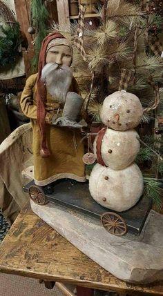 Arnett at Gatherings More Primitive Christmas Cowboy Christmas, Prim Christmas, Antique Christmas, Outdoor Christmas, Simple Christmas, Christmas Time, Christmas Crafts, Christmas Decorations, Christmas Centerpieces