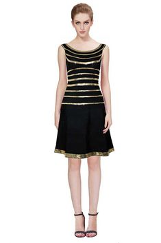 Herve Leger Black Sachie Stacked Sequined Sleeveless Dress Buying  Wholesale d9eaae72c