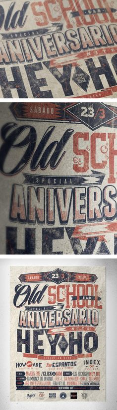 ANIVERSARIO HEY HO + OLD SCHOOL BAR  by  Overloaded design