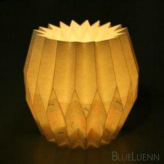 Tuto photophore origami