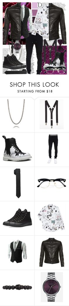 """""""Logan"""" by angelface7-1 ❤ liked on Polyvore featuring Balmain, Express, Dr. Martens, Dolce&Gabbana, Topman, Converse, Paul Smith, Alexander McQueen, Nixon and Barneys New York"""