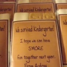 End of the School Year Gift kid-stuff  This is a great idea