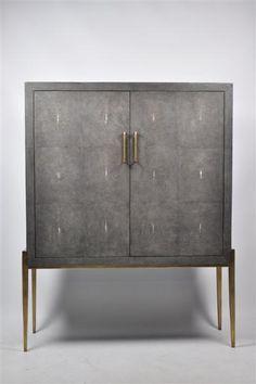 ginger brown furniture, shagreen furniture, exclusive cabinet, brass furniture, bronze furniture,bronze design