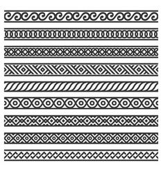 Border decoration seamless patterns set on white vector image on VectorStock Doodle Art Designs, Doodle Patterns, Zentangle Patterns, Zentangles, Henna Tattoo Designs Simple, Basic Mehndi Designs, Doodle Art Drawing, Mandala Drawing, Zen Doodle