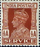 India 1937 King George VI Service Fine Mint SG O144 Scott O106 Other Asian and British Commonwealth Stamps HERE!