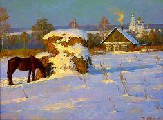 New winter landscape sketch snow ideas Landscape Sketch, Fantasy Landscape, Winter Landscape, Landscape Art, Landscape Paintings, Winter Painting, Light Painting, House Painting, Russian Painting
