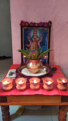 Diwali Decorations, Festival Decorations, Flower Decorations, Mandir Decoration, Silver Pooja Items, Hanuman Images, Pooja Room Design, Diwali Diy, Shiva Art