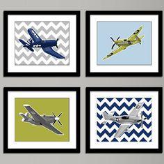 Cute DIY idea.. chevron &  planes YES!