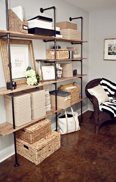 Creating an Inspiring Workspace via Kali Norton Photography & Design. Would be cool in the media room.