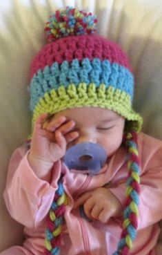 4c8b761a8b0 NEW INFANT BABY CROCHET EAR FLAP HAT cap knit beanie girl photo prop all  sizes  fashion  clothing  shoes  accessories  babytoddlerclothing   babyaccessories