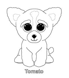 printable ty beanie boo coloring pages for preschoolers - Beanie Boo Coloring Pages
