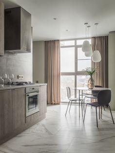 МЕТРАЖ: 70 м2  ДИЗАЙН: ЖАННА НАВОЛОЦКАЯ Interior, Kitchen, Table, Furniture, Home Decor, Indoor, Cuisine, Homemade Home Decor, Design Interiors