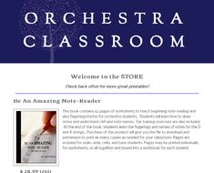 42 pages of worksheets I can print as many times as I need every year...great resource for the beginning of the year.  www.orchestraclassroom.com