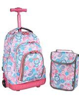 Amazon.com   J World New York Lollipop Kids' Rolling Backpack with Lunch Bag   Casual Daypacks