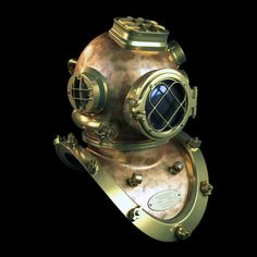 Vintage Diving Helmet C4D