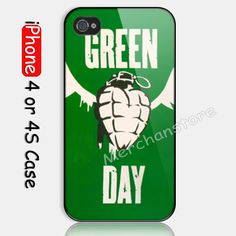 Green Day Alternative Rock Band Logo Custom iPhone 4 or 4S Case Cover