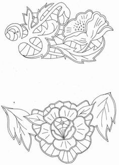 Bordado Jacobean, Jacobean Embroidery, Rose Embroidery, Embroidery Fabric, Embroidery Fashion, Vintage Embroidery, Machine Embroidery Designs, Embroidery Stitches, Embroidery Patterns
