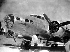 B-17E 'Sally' of US 5th Air Force based between Townsville, Queensland, Australia and Port Moresby, New Guinea; this aircraft was used exclusively to transport Major General George Kenney; note Jeep
