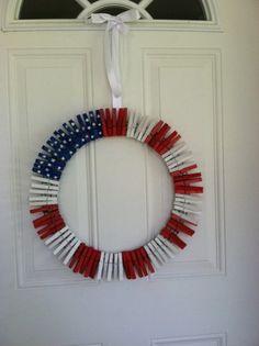 cheap patriotic crafts | patriotic clothespin wreath a fun and easy craft for this patriotic ...