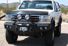 Iron Bull Front Bumper, Ford (1992-96) Bronco, (92-97) F-Series