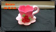 artesanatos com eva Crafts With Cds, Foam Crafts, Arts And Crafts, Tea Party Crafts, Craft Party, Tea Cup Art, Tea Cups, Moldes Para Baby Shower, Disney Valentines