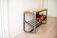 Store more than 10 pair of (adult) shoes in this steel shoe storage bench. Store more than 10 pair of (adult) shoes in this steel . Welded Furniture, Steel Furniture, Home Decor Furniture, Industrial Furniture, Furniture Projects, Furniture Websites, Metal Projects, Furniture Storage, Upcycled Furniture