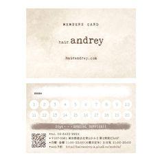 hair.andrey_Members Card   Beauty salon graphic design ideas   Follow us on https://www.facebook.com/TracksGroup   美容室 デザイン カード メンバーズカード