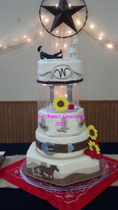 Western Wedding Cake for a special couple.