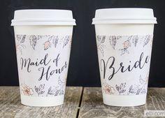Free Printable: wedding coffee cup sleeves