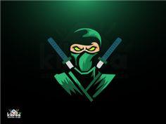 Ninja by Kibrea Graphics Team Logo Design, Mascot Design, Joker Wallpapers, Gaming Wallpapers, Ninja Logo, Logo Tutorial, Esports Logo, Samurai Art, Game Logo