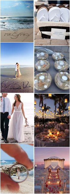 25 Dreamy and Creative Beach Wedding Ideas! The idea of having a beach wedding is quite appealing to many couples for thousands of reasons. That explains a lot why beach wedding is popular all year round. It seems to be symbolic for romance and elegance. Beach Wedding Decorations, Wedding Themes, Wedding Tips, Trendy Wedding, Perfect Wedding, Wedding Photos, Wedding Planning, Dream Wedding, Wedding Dresses