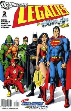 Justice League by Jesus Garcia Lopez It's nice, but I don't understand why Flash is crouching. Arte Dc Comics, Dc Comics Superheroes, Dc Comics Characters, Batman Comics, Dc Comic Books, Comic Book Artists, Comic Book Covers, Comic Art, Marvel Heroes