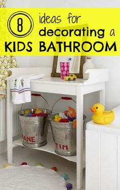 Bathroom Decorating Ideas For Toddlers that's so cute and a good way to let guests know where the