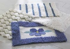 "Maggie's Crochet · Loop Stitch Rugs Crochet Pattern ~ intermediate skill ~ approx. 24""W x 36""L ~ CROCHET"