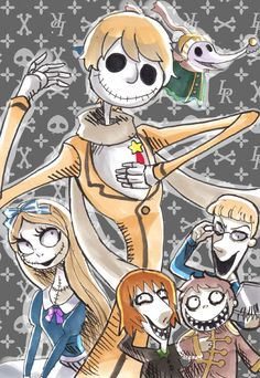 Hetalia/Nightmare Before Christmas. This is awesome. The only thing I don't like is the fact that Jack and Sally are a couple... and Russia and Belarus are siblings. I'm just going to ignore that.