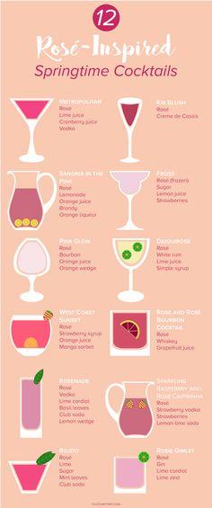 12 Springtime Cocktails To Make With Rosé