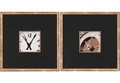Shop for a Clocks II - Set of 2 Framed Artwork at Rooms To Go. Find Wall Decor that will look great in your home and complement the rest of your furniture. #iSofa #roomstogo