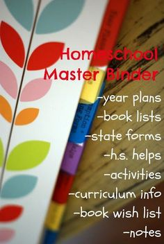Creating a Master binder for your homeschool