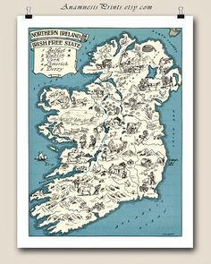 Antique map of ireland world of maps pinterest antique maps ireland map charming vintage picture map of northern ireland lovely irish print to frame gumiabroncs Gallery