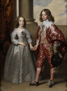 William II, Prince of Orange, and his Bride, Mary Stuart by  Anthony van Dyck, 1641. Rijksmuseum, Public Domain