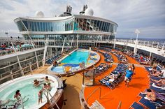 Floating resort: Allure of the Seas is as big as three and half football fields and nearly...