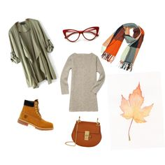 A fashion look from October 2015 featuring Rebecca Minkoff dresses, Timberland ankle booties and Chloé shoulder bags.