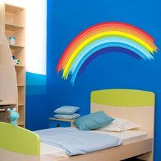 """Adesivo Murale - Arcobaleno.  Adesivo murale di alta qualità con pellicola opaca di facile installazione. Lo sticker si può applicare su qualsiasi superficie liscia: muro, vetro, legno e plastica.  L'adesivo murale """"Arcobaleno"""" è ideale per decorare la cameretta. Adesivi Murali."""